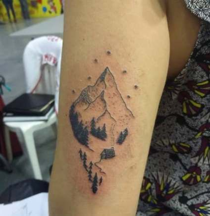 30 Ideas Tattoo Simple Mountain Small