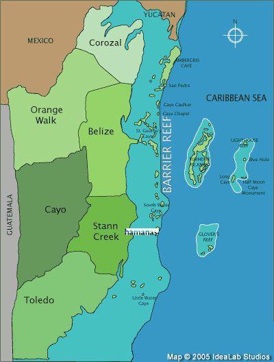 Best Belize Vacations Ideas On Pinterest Belize Travel - Belize tourist map