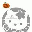 Hello kitty and other pumpkin stencils!