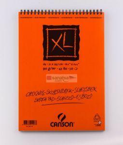Canson XL Croquis Krem Eskiz Defteri Üstten Spiralli A4 50 Sayfa