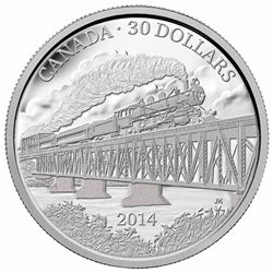 2014 $30 fine silver coin - 100th Anniversary of the Completion of the Grand Trunk Pacific Railway | Royal Canadian Mint Coins.