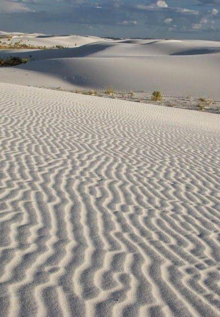 Tularosa Basin – the glistening white sands of New Mexico -