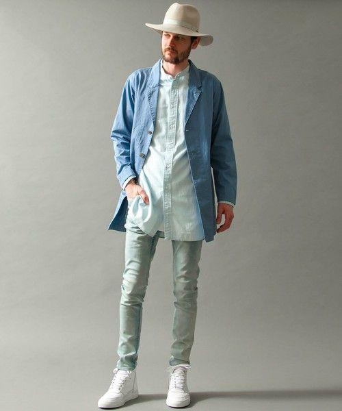 画像 : メンズ「ロング丈シャツ」着こなしとおしゃれなコーディネート集 - NAVER まとめ