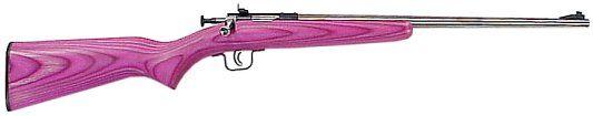 """Sky Guns International   Crickett Bolt 22 Long Rifle 16.12"""" Pink Laminate Stainless Steel"""