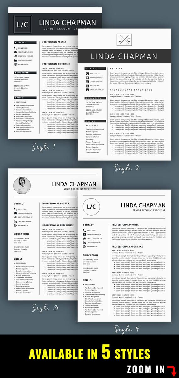 Professional Resume Template / CV Template  Cover Letter