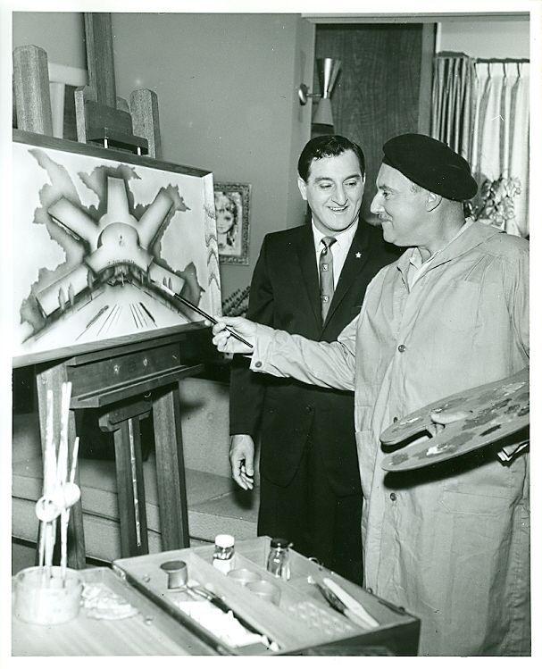 GALE GORDON AND DANNY THOMAS SHOW ORIG '58 ABC TV PHOTO #Photos