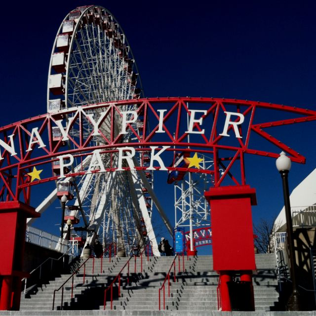 Visit Navy Pier from Shedd! Catch a Shoreline Sightseeing water taxi - it runs between Navy Pier and the Museum Campus dock, at lake level on the north side of Shedd.
