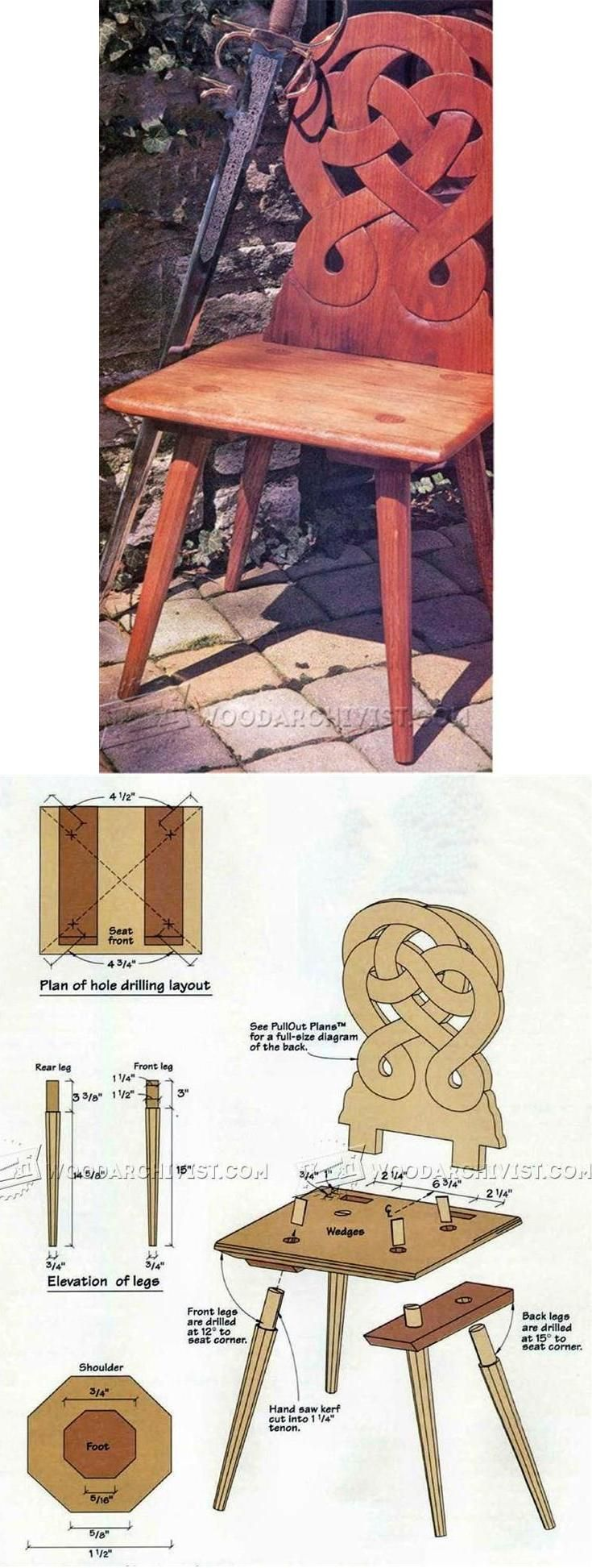 Peasant Chair Plans - Furniture Plans and Projects   WoodArchivist.com