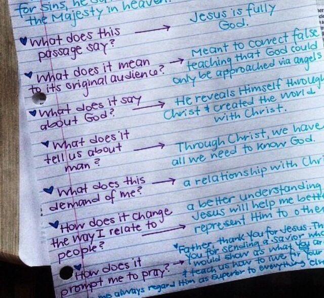 Seven Arrows bible study method