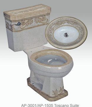 Hand Painted Toilets by Atlantis mediterranean toilets
