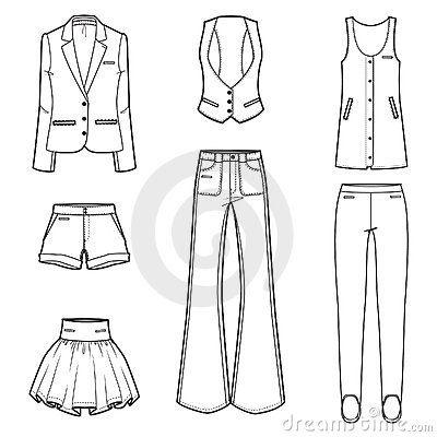 Women s fashion clothes vector set