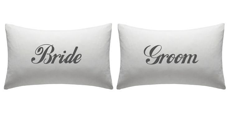 Bride and Groom pillow case