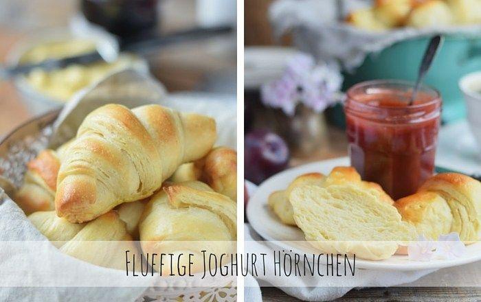Joghurthörnchen & Pflaumen-Vanille-Marmelade