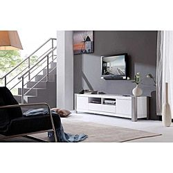 Shop for 'Maya' White High-Gloss Stainless Steel TV Stand. Get free shipping at Overstock.com - Your Online Furniture Outlet Store! Get 5% in rewards with Club O!