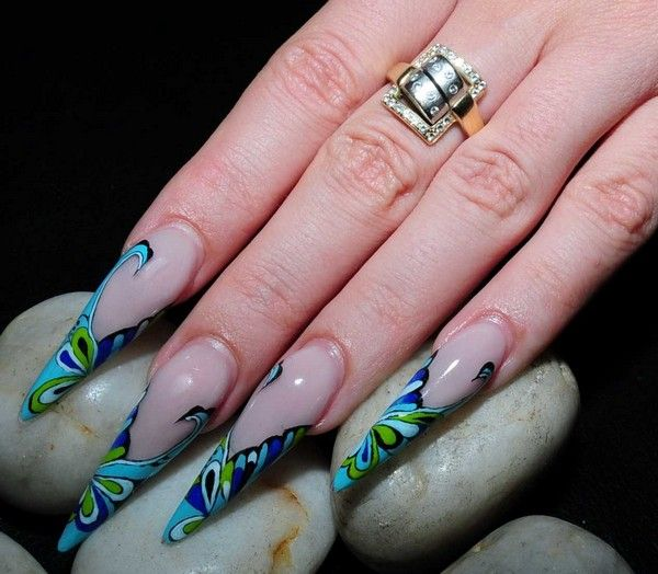 51 best stiletto nails images on pinterest nails design 51 stunning stiletto nails designs with images prinsesfo Choice Image