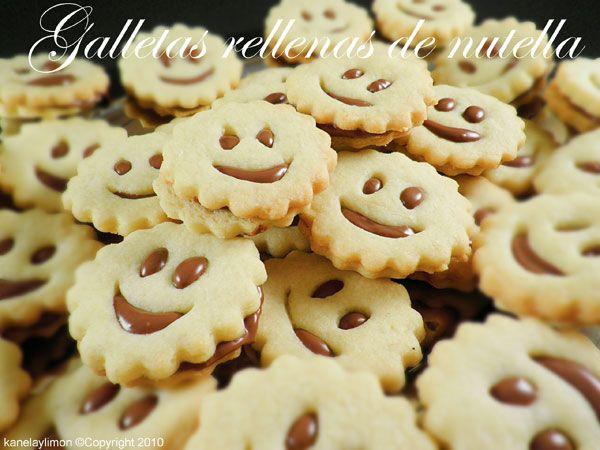 Kanela y Limón: Galletas rellenas de nutella