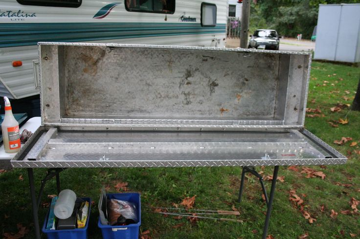 Turn A Truck Box On Its Side To Make A Kitchen Box That