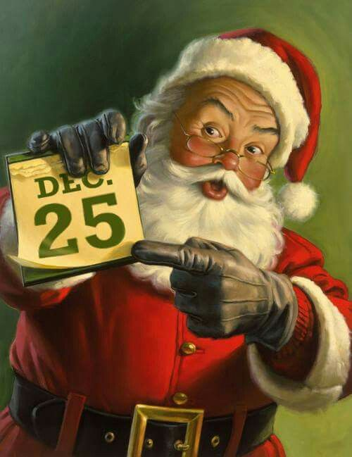 25th December. Vintage Christmas Card.