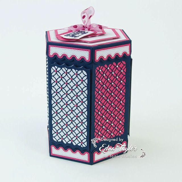 Hexagon Kaleidoscope box die set from Tonic Studios