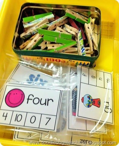 Alphabet, Numbers, Beginning Sounds, Ending Sounds, Color Words and Number Words - Easy to prep, store and implement! LOVE!!!!! http://www.teacherspayteachers.com/Product/Back-to-School-Clip-Cards-Alphabet-Numbers-Color-Words-Number-Words-1357484