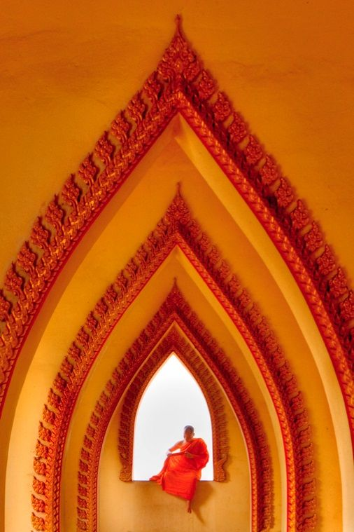 Orange architecture. There is nothing cooler. Using the colors, lines, and Indian influence of this photo, one could create the most #AvantReady look imaginable.