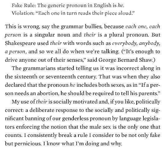 """""""Ursula K. Le Guin's take on the singular 'they' is my absolute favorite… """""""