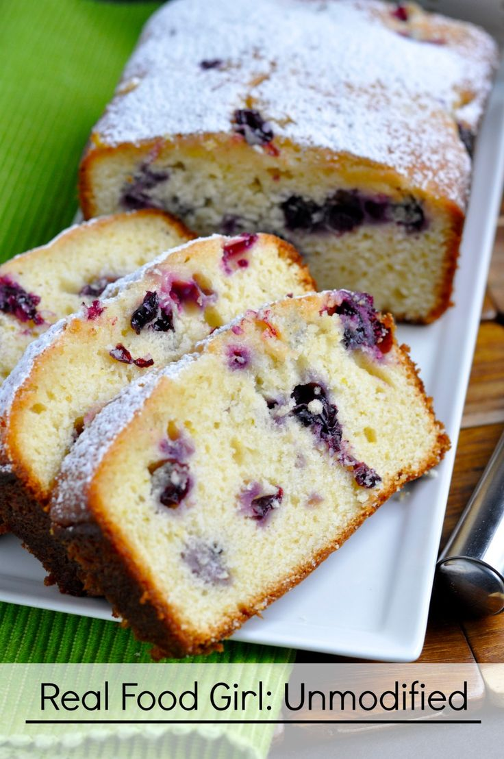 Lemon Blueberry Loaf Cake (all organic) by Real Food Girl: Unmodified