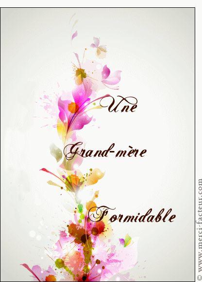 Carte Une grand-mère formidable pour envoyer par La Poste, sur Merci-Facteur ! #carte #fêtedesgrandsmères