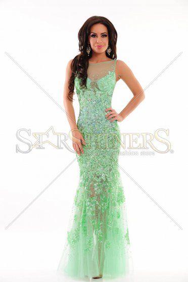 Rochie Sherri Hill 9708 Green