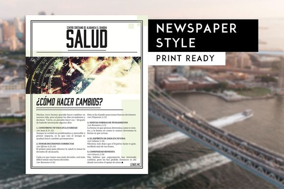 Newspaper Article Flyer by Xoltic on @creativemarket