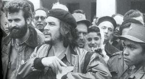O galego Fernández Mel, á esquerda, co Ché