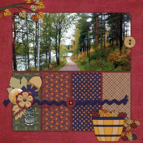 Layout created using Hello Autum by Heather Z Scraps and font Playball.