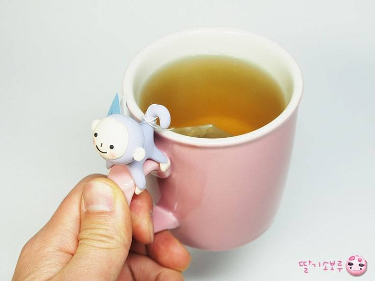 Color clay monkey tea bag holder / to vote frontal Clay :: Naver blog