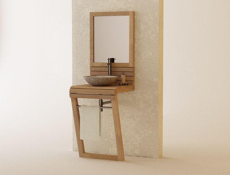 Muebles de Baños en Madera de Teca, Serie Lavamanos Simples