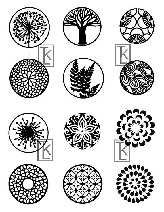 Nature Themed Circles 17 Silk Screens Stencil by