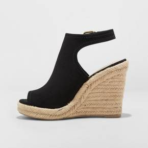 ce14bc92e Women's Mala Shield Espadrille Wedge Sandals - Universal Thread™ Black 7.5  : Target
