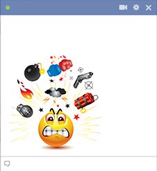 Angry emoticon for Facebook