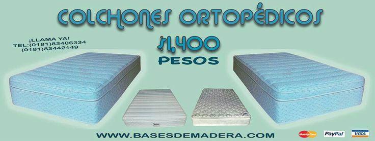 Colchones Ortopédicos HULE ESPUMA DE ALTA DENSIDAD desde 1,400