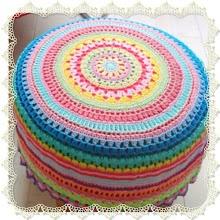 Patroon poef - Free crochet pattern