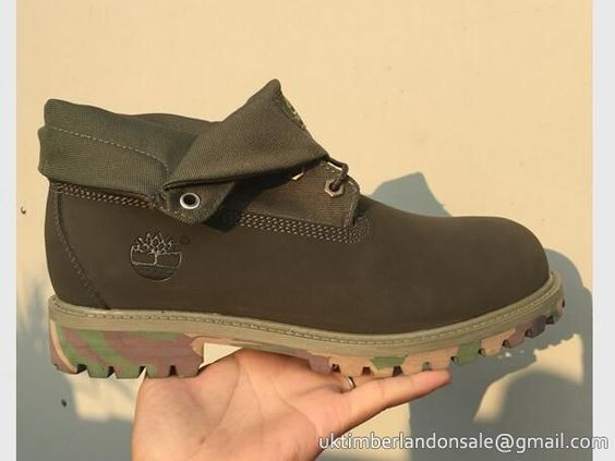 Timberland Women's Roll-Top Classic Boots Camo Green $ 75.00