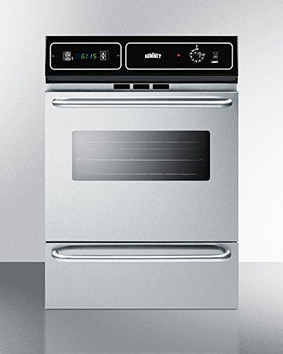 summit ttm7212bkw 24u0027 gas wall oven with 292 cu ft oven capacity digital