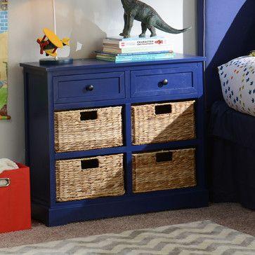 Cobalt Blue 6-Drawer Kids Storage Chest - traditional - Toy Storage - Other Metro - Kirkland's