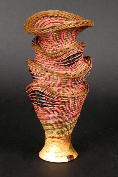 "Rose Babble: 16"" tall by 8"" diameter, $600.00 #handwoven #wovenbasket"