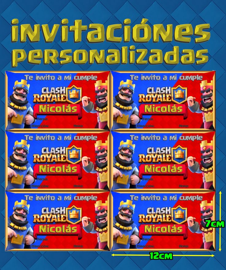 Clash Royale Kid Imprimibles Invitación, Corona, Banderines+ - $ 30,00