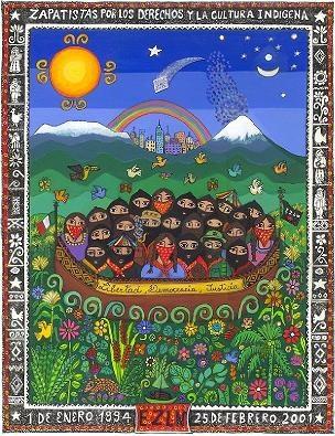 Zapatistas por los derechos y la cultura indígena