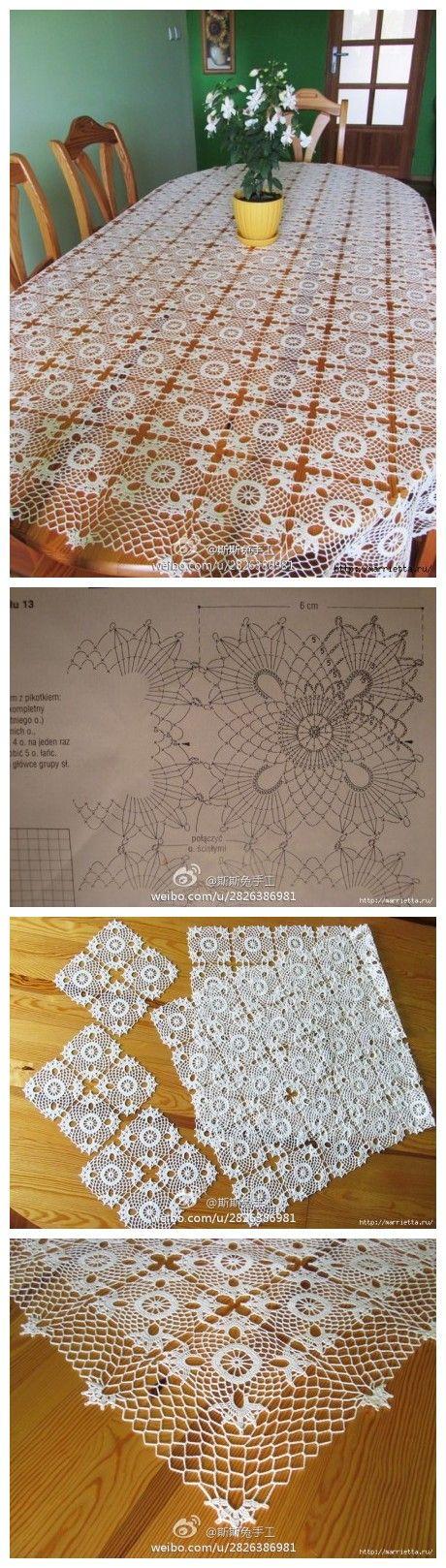 钩花桌布 motif dantel örnekleri