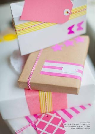 yellow & pinkHandmade Packaging, Handmade Christmas, Christmas Packaging, Gift Wraps, Gift Wrapping Ideas, Imagine Handmade, Christmas Gift Tags, Christmas Gifts, Packaging Ideas