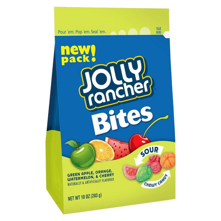 Jolly Rancher Bites Fruit Sour Chewy Candy 10 oz