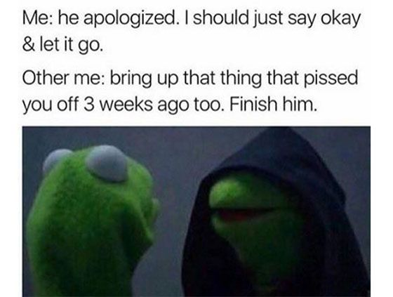 the evil kermit the frog meme is more relatable than ever