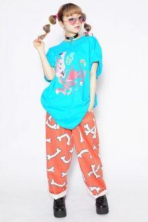 FLYING BONE PAJAMA PANTS - Tokyo kawaii galaxxxy- international online store